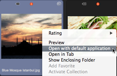Open with default application